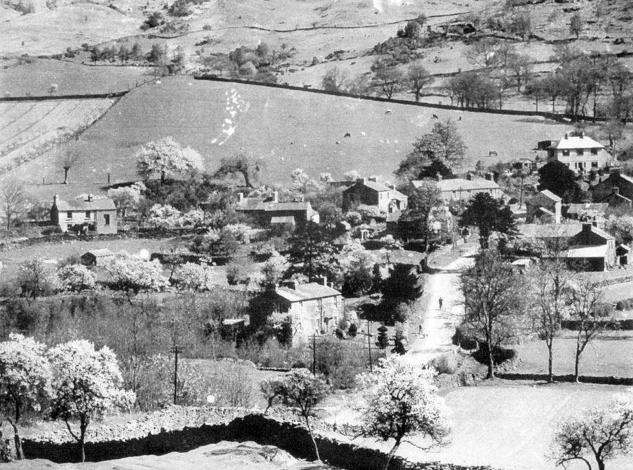 Crosthwaite, early 20th Century - Mr. Millard's newly planted orchard at Dodds Howe (top left) <small>(J.Hardman)</small>