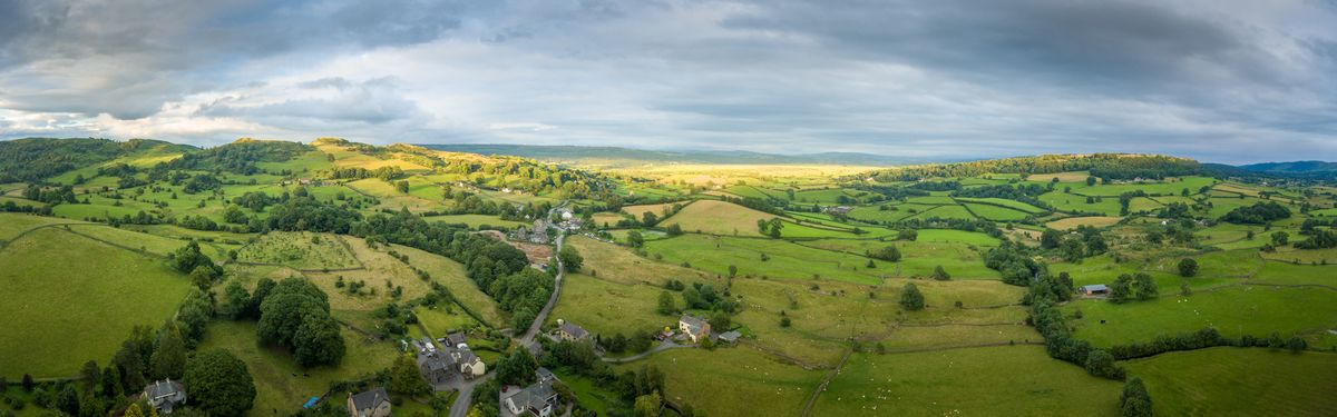 Drone view of Crosthwaite