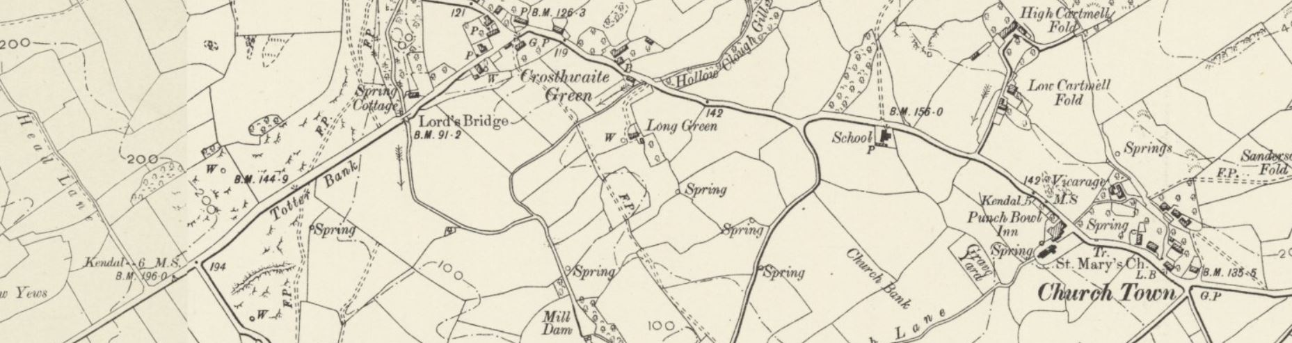 Archive OS map of Crosthwaite